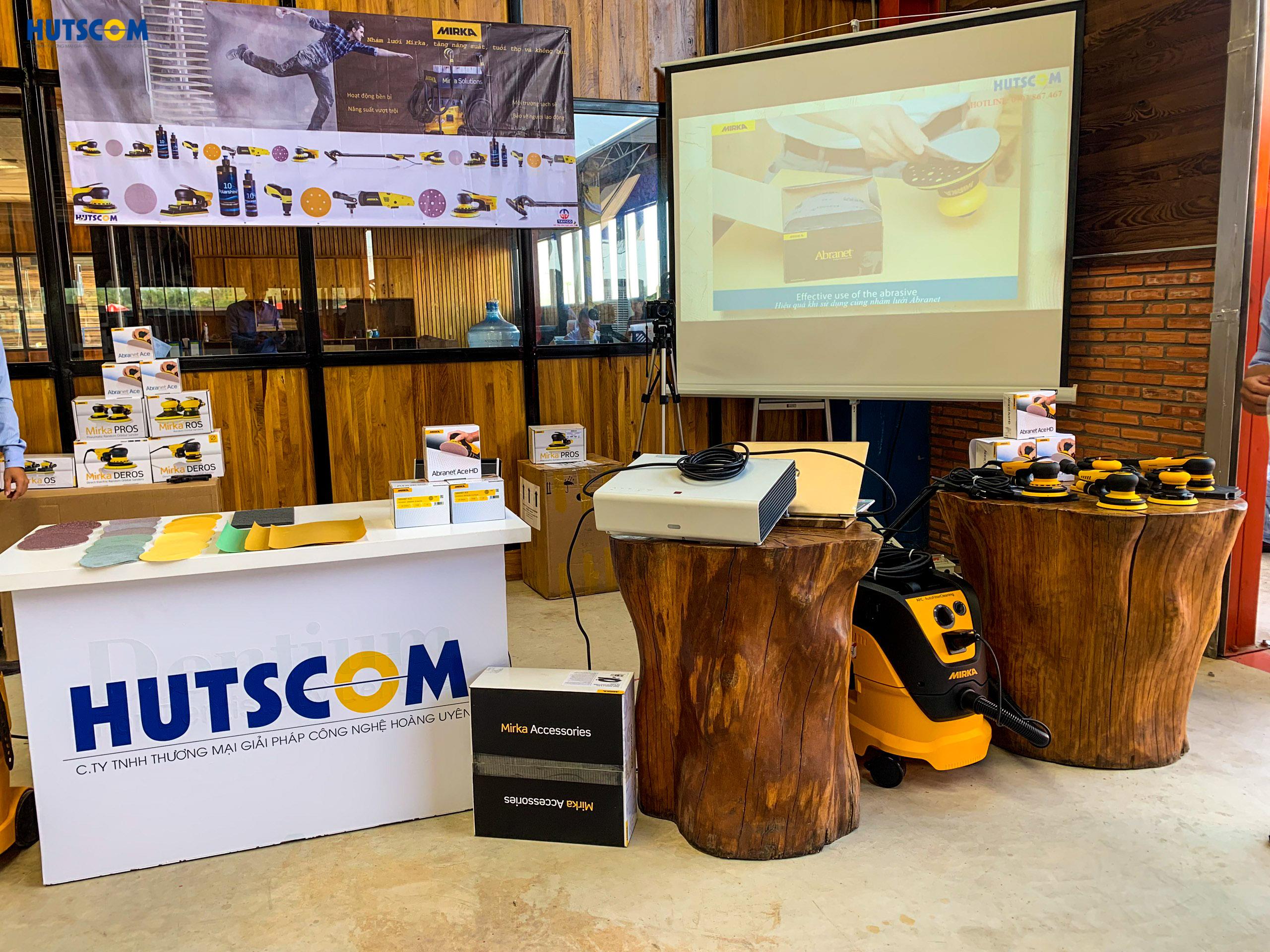 HUTSCOM giới thiệu Giải pháp chà nhám không bụi Mirka tại Tavico Long Bình