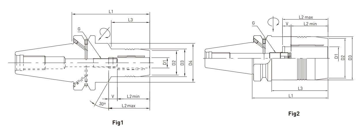 ĐẦU KẸP THỦY LỰC BT JE-IL BT30 - BT40 - BT50 - 3