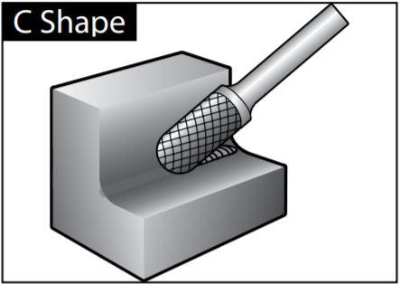 Mũi mài dạng C-SHAPE