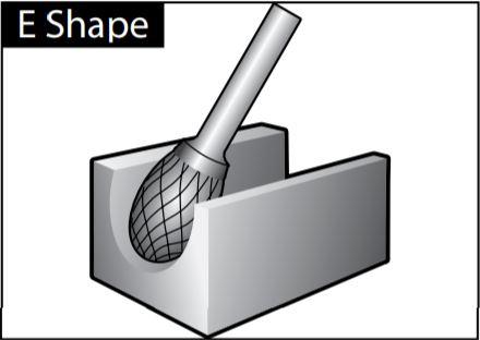 Mũi mài dạng E-SHAPE
