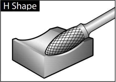 mũi mài dạng H-SHAPE