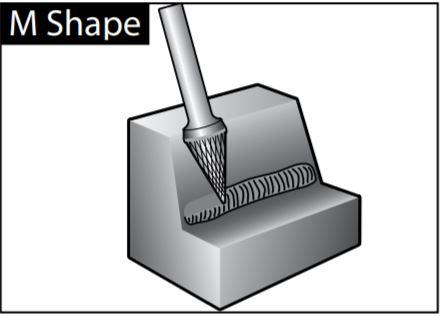mũi mài dạng M-SHAPE