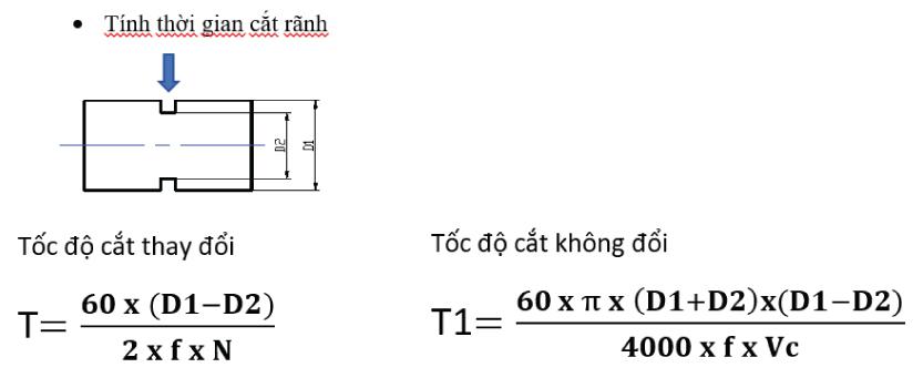 Công thức tính thời gian gia công tiên CNC