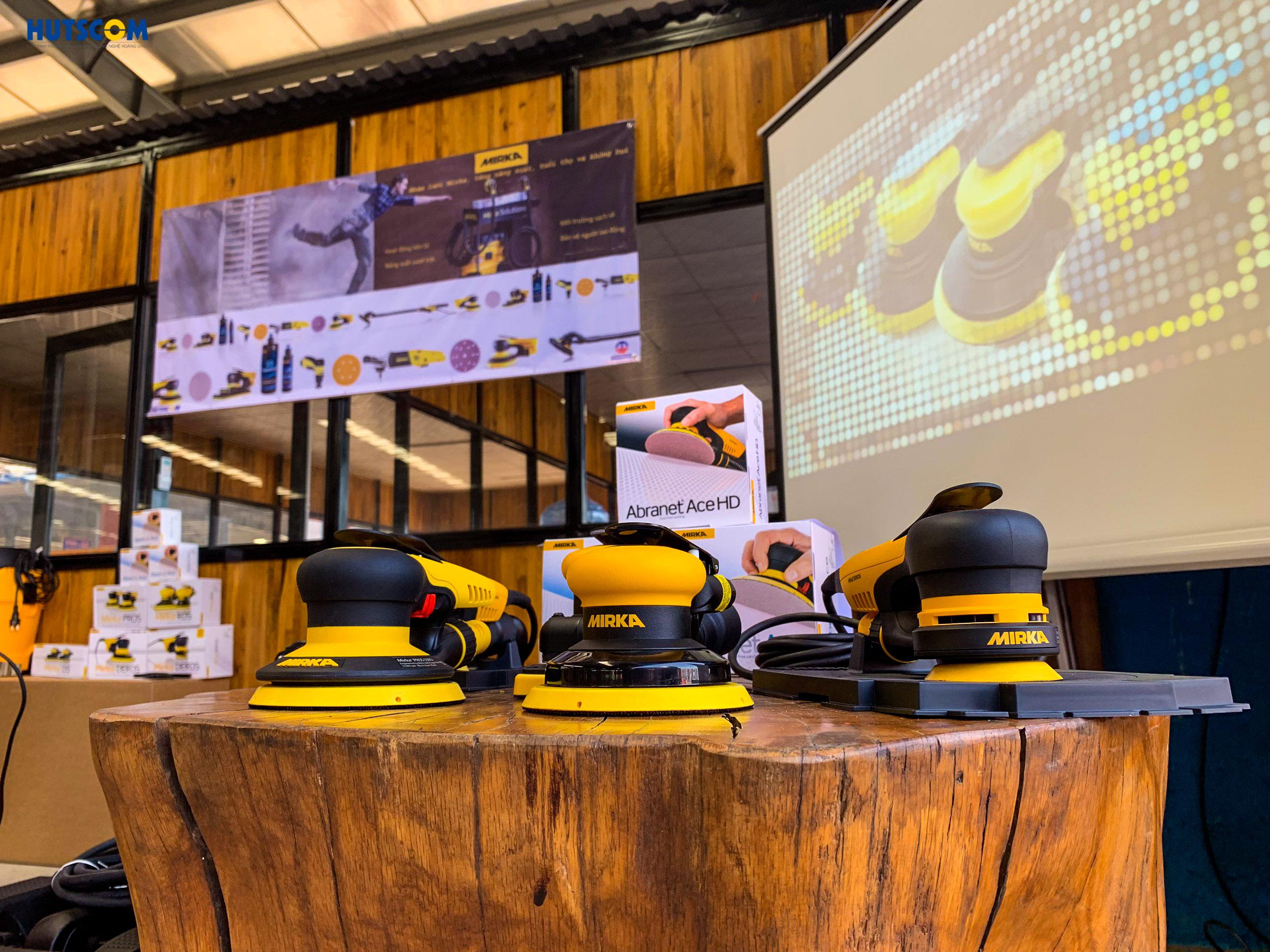HUTSCOM giới thiệu Giải pháp chà nhám không bụi Mirka tại Tavico Long Bình 2