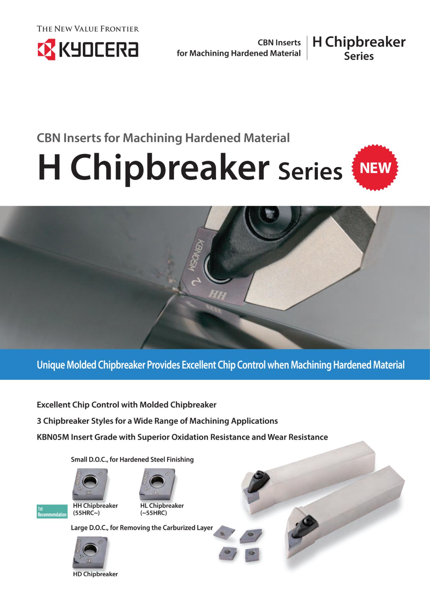 Insert Tiện CBN Kyocera - H Chipbreaker Series Chuyên Gia Công Thép Sau Nhiệt