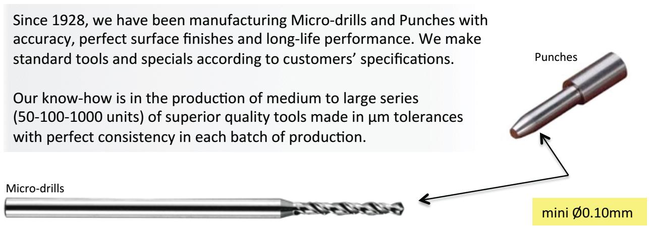 Mũi Khoan Micro-Drill và Mũi Đột Punches Gabriel Mauvais Sarl Từ Pháp