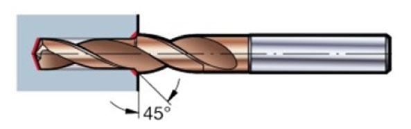 Mũi khoan vát mép C45