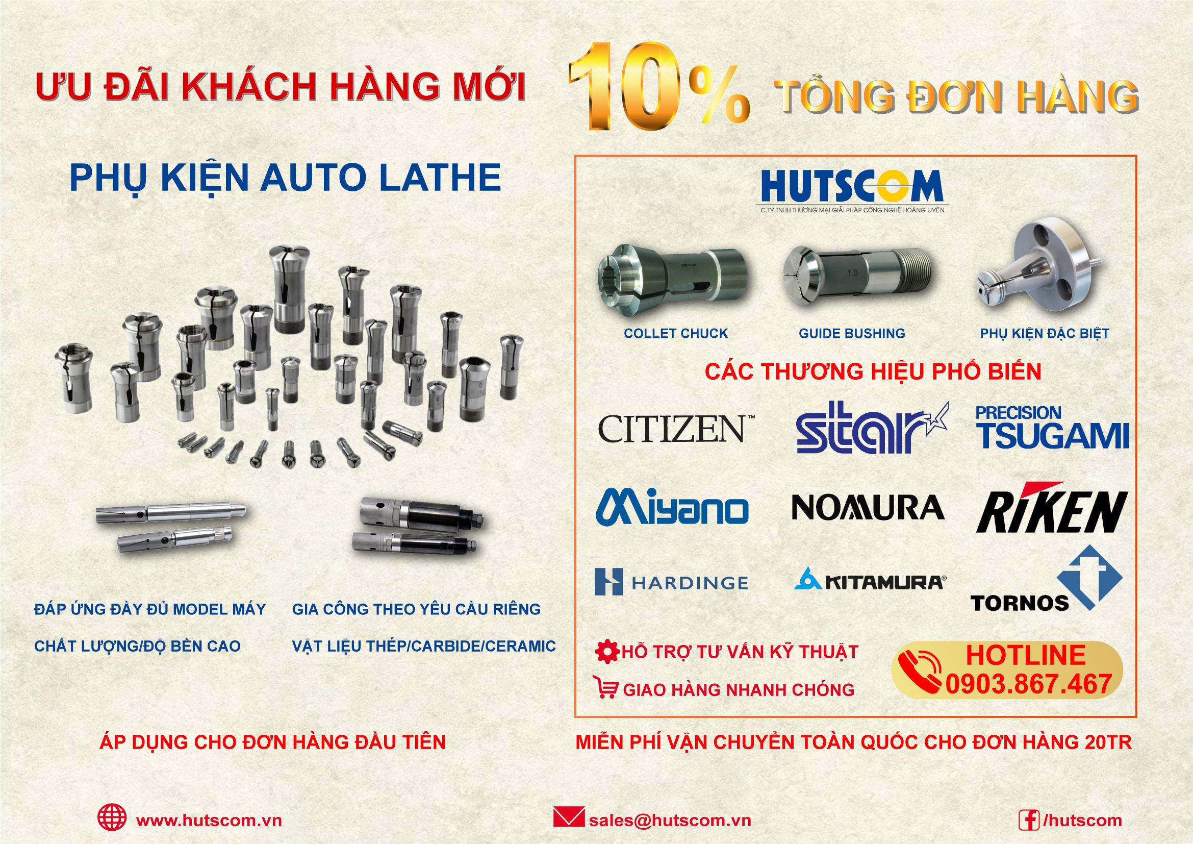 Ưu đãi giảm giá khi mua phụ kiện Auto Lathe