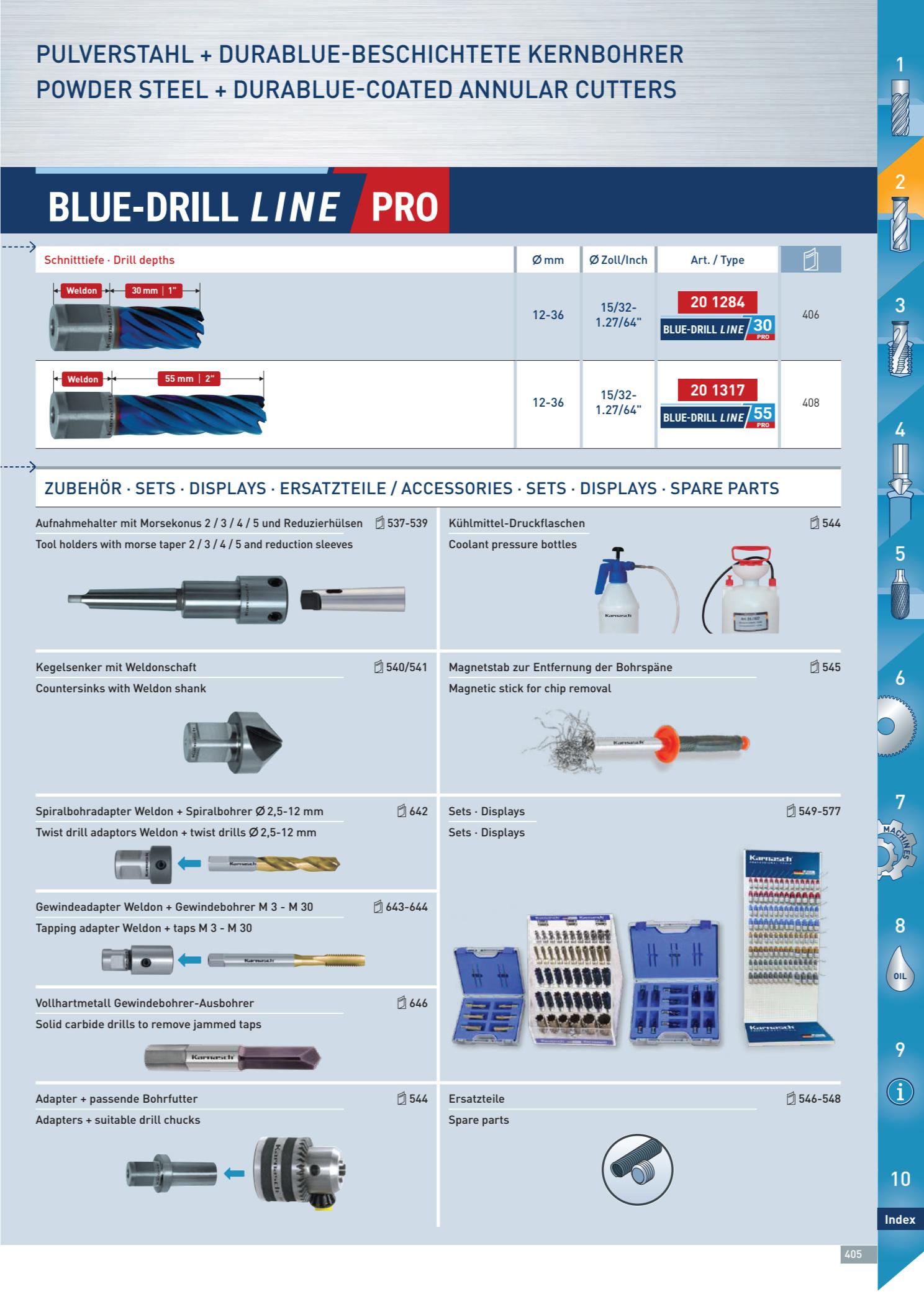 Mũi Khoan Từ Karnasch Blue-Drill Line Pro 2