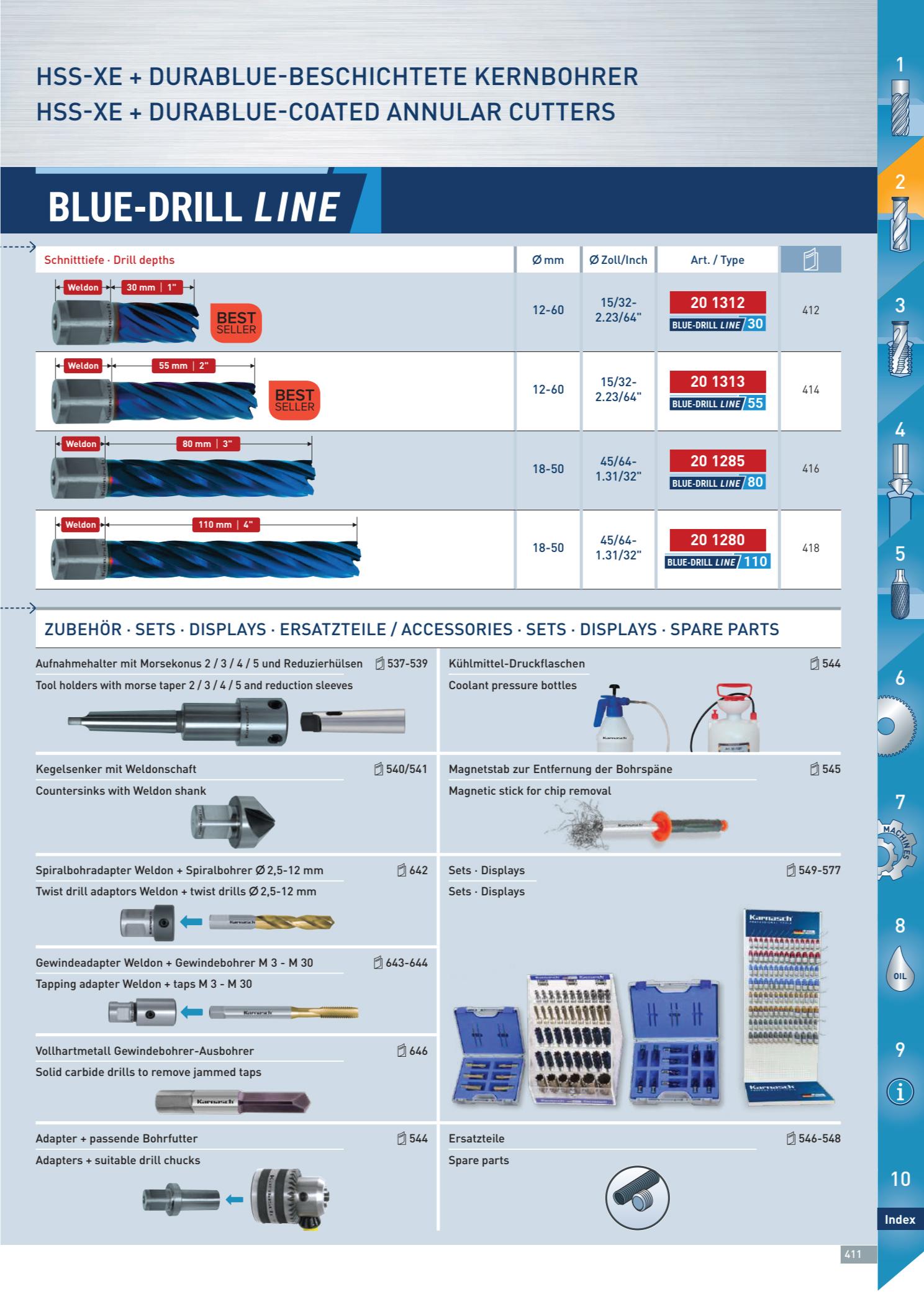 Mũi Khoan Từ Karnasch Blue-Drill Line 2