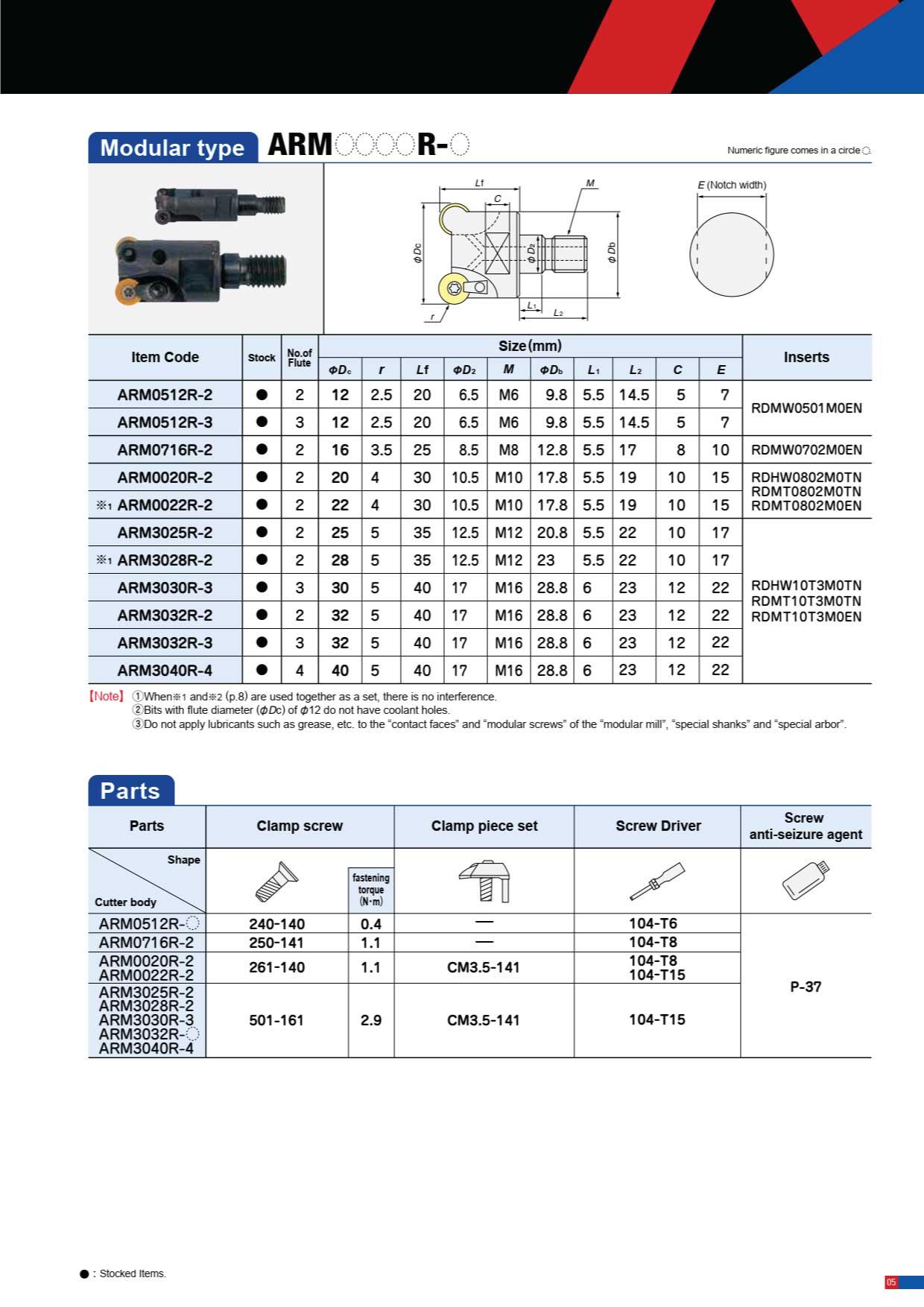 Dao Phay Gắn Mảnh Hitachi Moldino AR Type 5