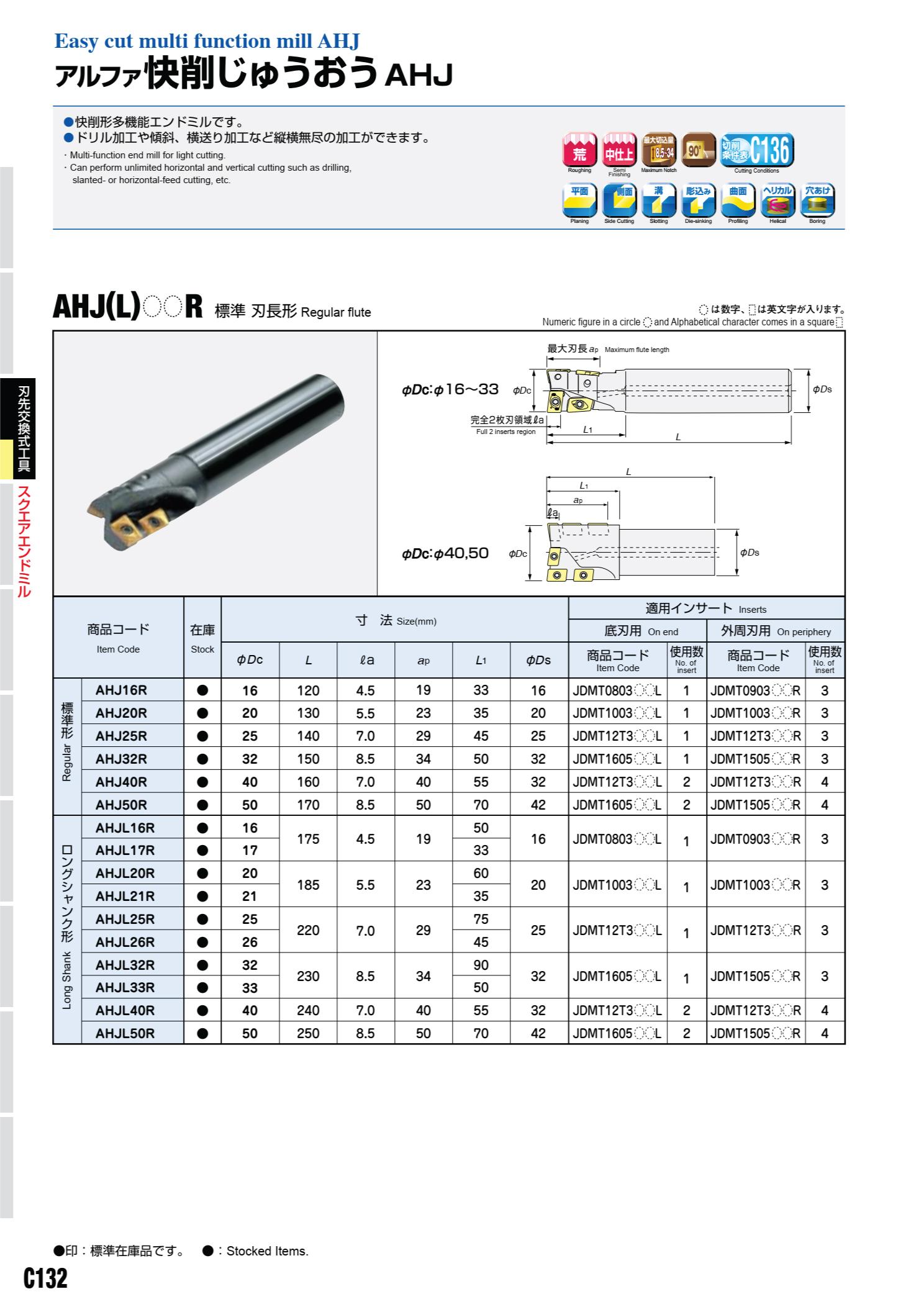 Mảnh Insert Phay Hitachi Moldino JDMT Lắp Cán Dao AHJ 2