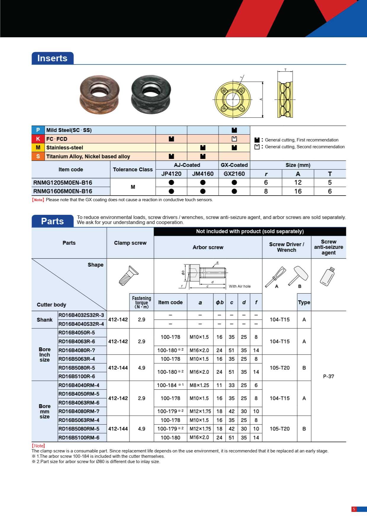 Dao Phay Gắn Mảnh Hitachi Moldino RD16B 5