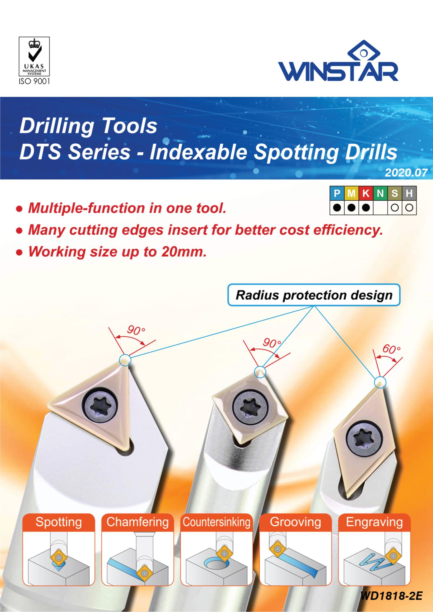 Mũi Khoan Gắn Mảnh Spotting Drill Winstar DTS60 1