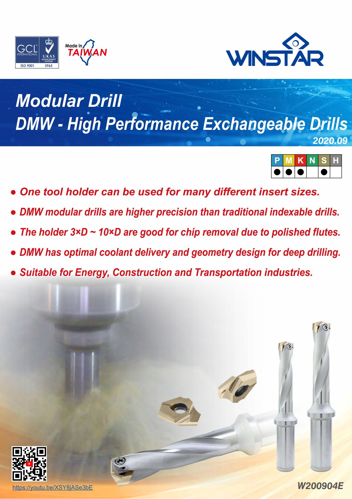Mũi Khoan Gắn Mảnh Winstar DMW Modular Drills 1