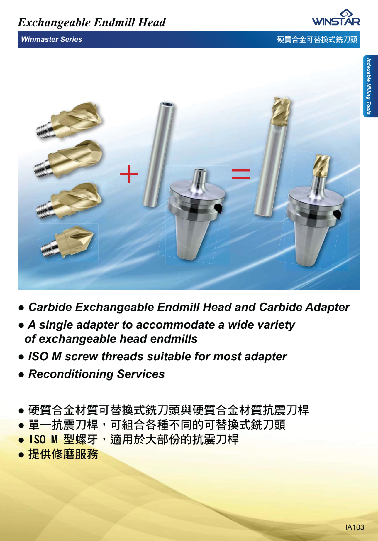 Đầu Dao Phay Cầu 2F Module Winstar EHBWH 1