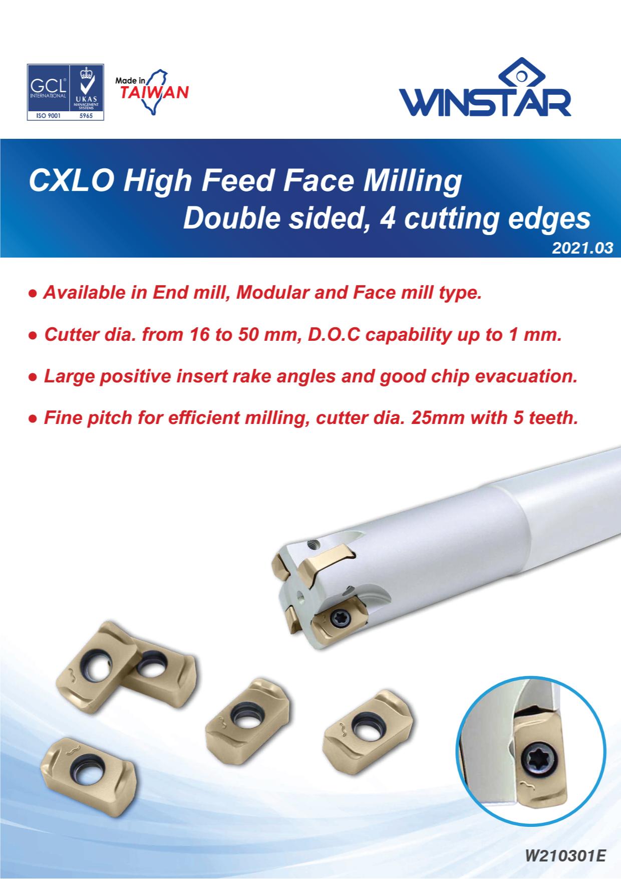 Dao Phay Gắn Mảnh High Feed Face Milling Winstar CXLO 1