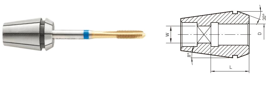 COLLET lắp vào các loại mũi taro JE-IL - 2