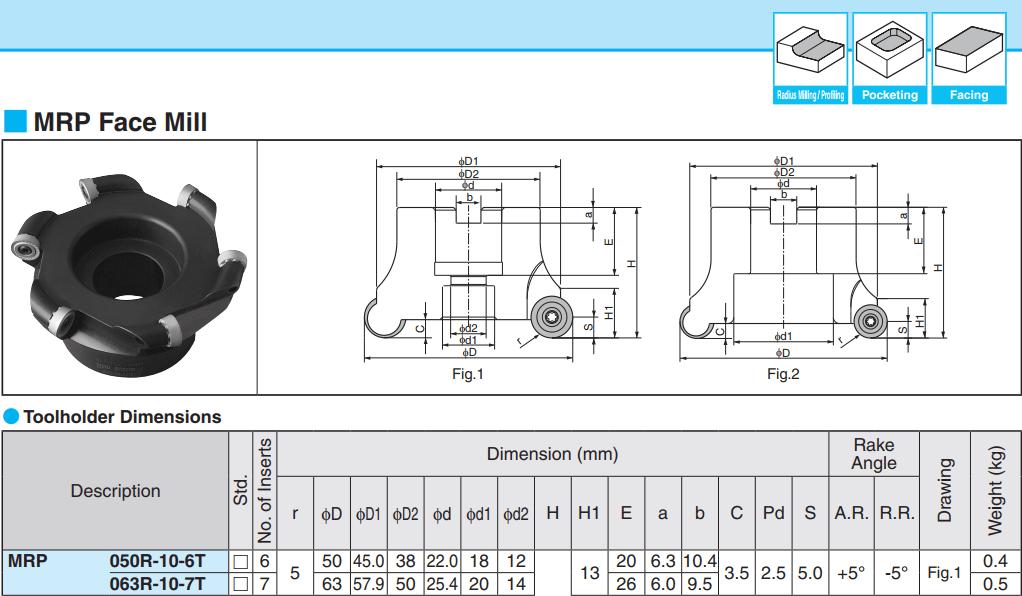 INSERT PHAY HÌNH TRÒN 1 MẶT KYOCERA RPMT10T3M0 (PR730) - 2