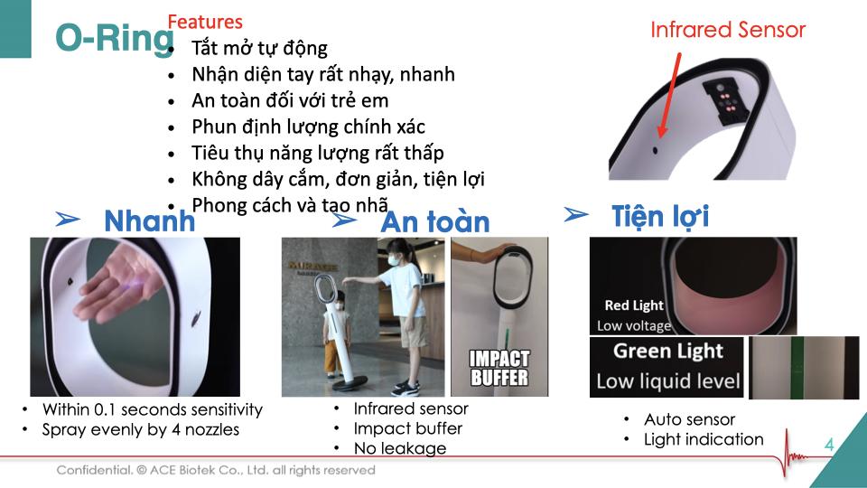 máy sát khuẩn tay tự động bơm dung dịch O-Ring - 13