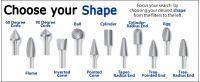 Các hình dạng mũi mài hợp kim phổ biến trên thị trường 3