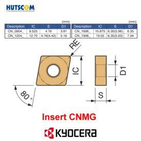 Mảnh Dao Tiện 2 Mặt Kyocera CNMG